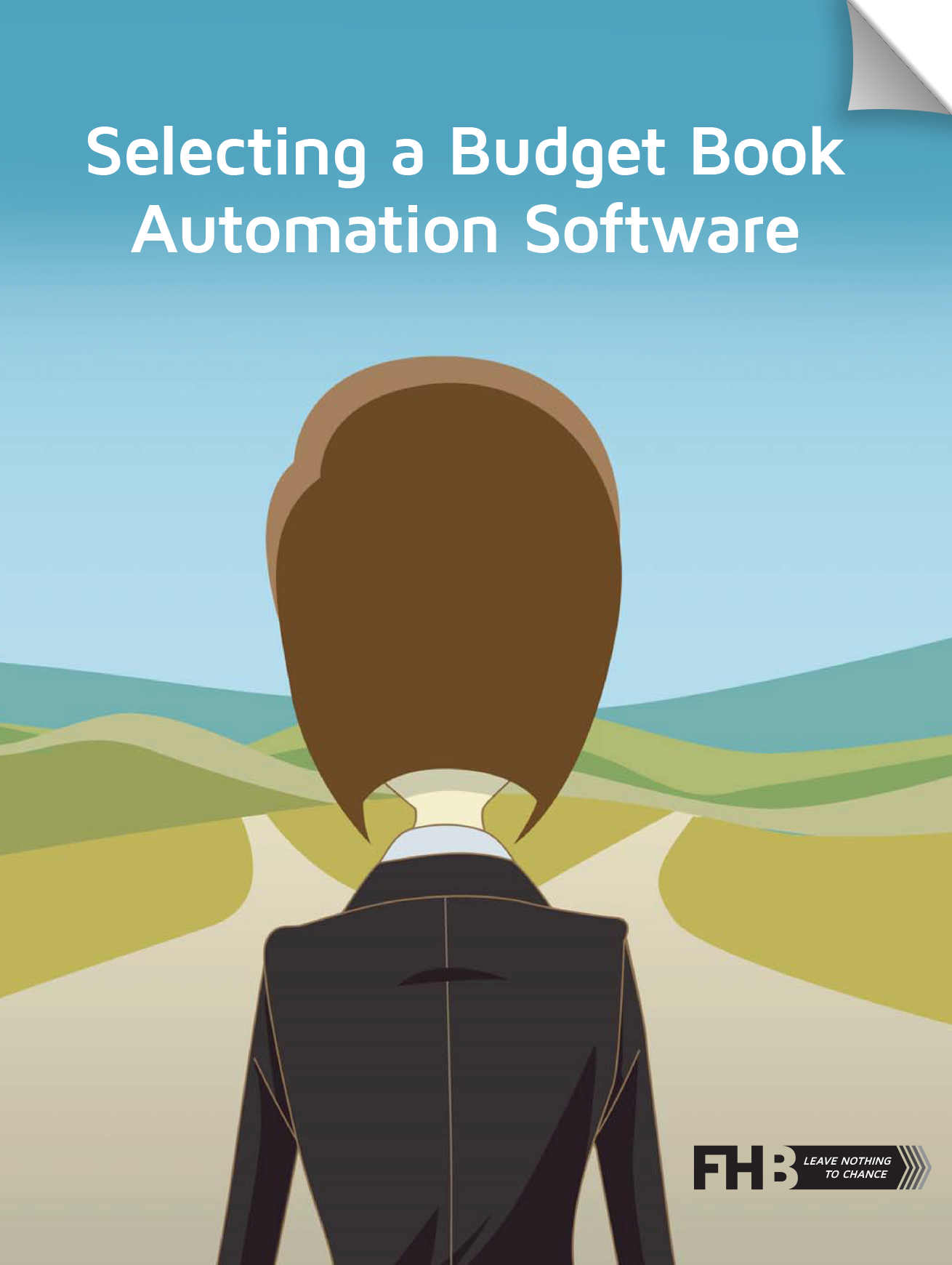 eBook Budget Book Cover with title CTA page Curl 15